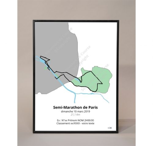 photo poster semi-marathon de Paris 2019 couleur