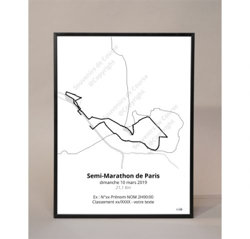 photo poster semi-marathon de Paris 2019 contour