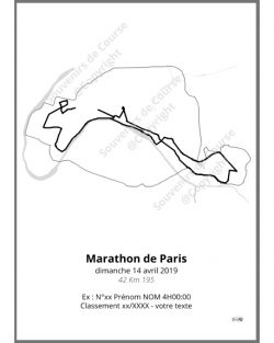 poster marathon de Paris 2019 contour