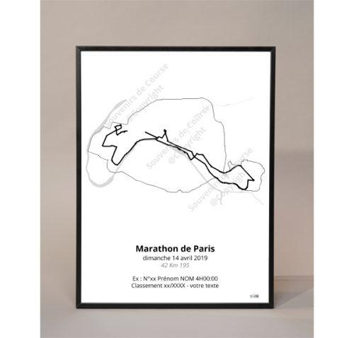 photo poster marathon de Paris 2019 contour
