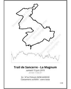 poster trail de sancerre la magnum - trail