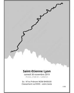 poster Saintélyon - trail - gris